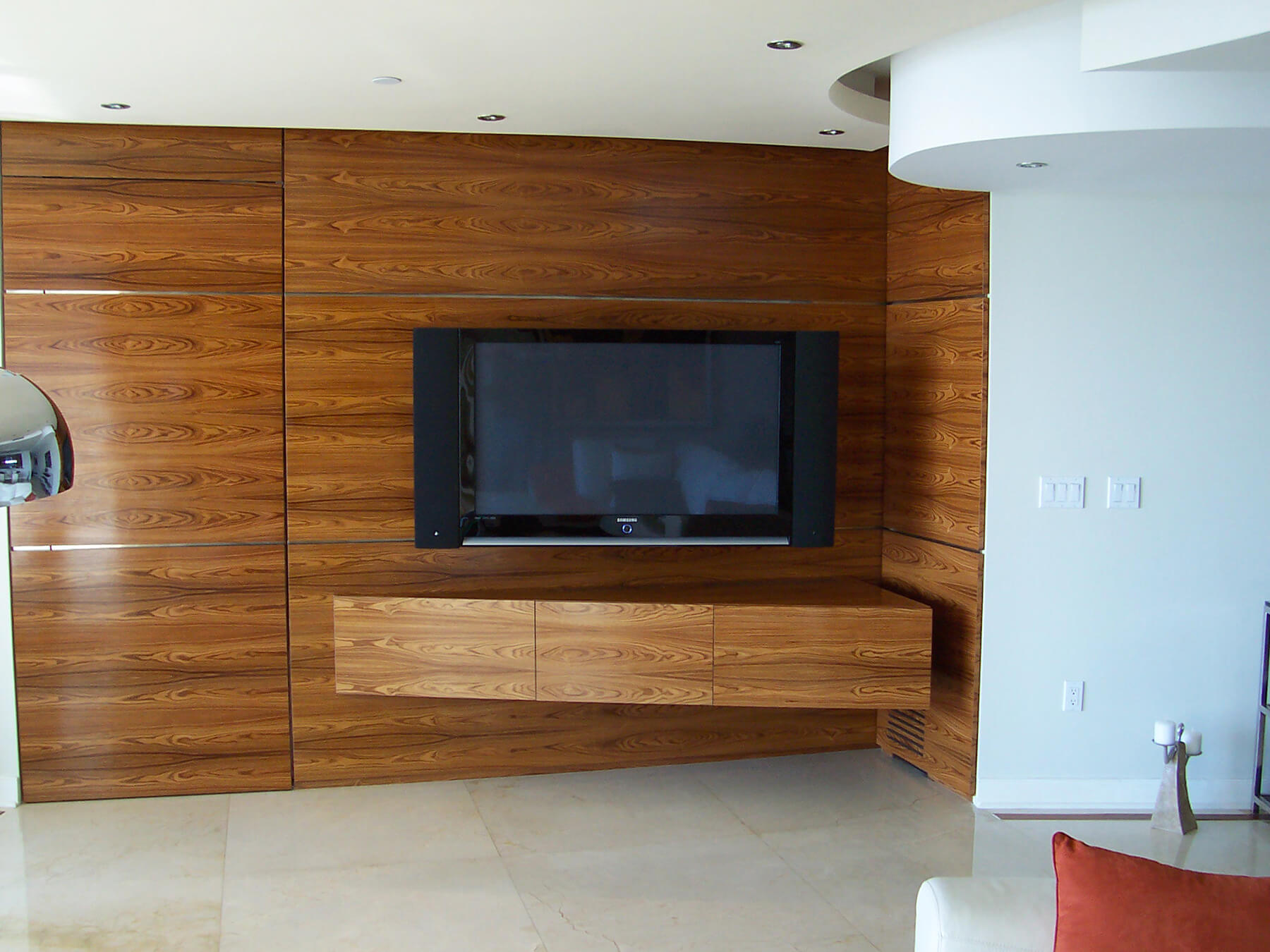 Custom Wall with TV Stand